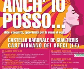 """Castrignano de'Greci: """"Anch'io posso"""", rassegna dedicata alle donne"""