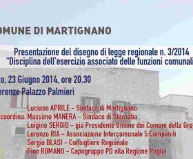 A Martignano si parla di unioni e fusioni dei comuni