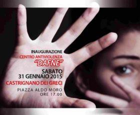 """Castrignano de'Greci: inaugurazione del primo Centro AntiViolenza """"Dafne"""""""