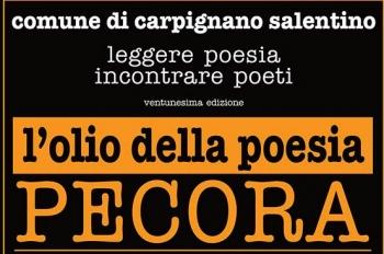 """Sarà il poeta Elio Pecora che, questa sera, riceverà l'annuale premio, """"l'Olio della Poesia"""", a Serrano. La presentazione è avvenuta nel corso di una conferenza stampa, presso la Cooperativa San Giorgio, che sponsorizza l'evento culturale. Un..."""