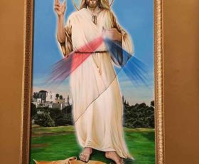 Borgagne – Sfregio alla tela di Cristo Misericordioso