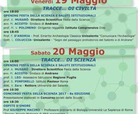 8° Edizione della Festa della Scienza al Castello di Andrano
