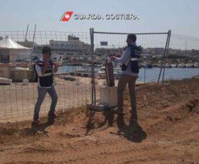 Porto San Foca, lavori non a norma. La Guardia Costiera sequestra 1.400 metri quadrati di cantiere