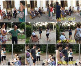 Incontri di lettura con gli anziani per le vie di Martano