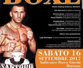 """Boxe a Martano: Santoro vs Mantegna. Il ritorno di """"El Dynamita"""" sul ring"""