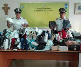 Sequestro di scarpe e borse contraffatte tra Nardò e Taviano
