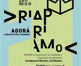 """A Corigliano d'Otranto riapre il """"Laboratorio Urbano Agorà"""""""