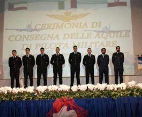 """Galatina: cerimonia di """"Consegna delle Aquile Turrite"""" a otto piloti militari"""